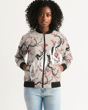 Load image into Gallery viewer, Cherry Blossom Women's Bomber Jacket