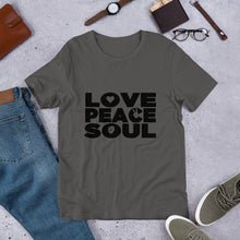 Load image into Gallery viewer, Men's & Women's Love Peace Soul - Short-Sleeve Unisex T-Shirt