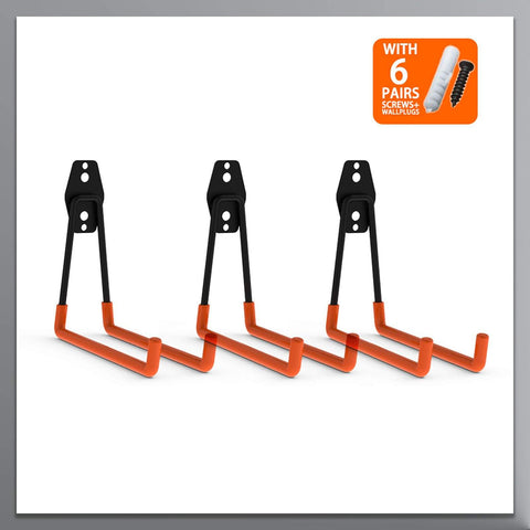 Steel Garage Storage Ladder Hooks - coolyeah-garage-organization