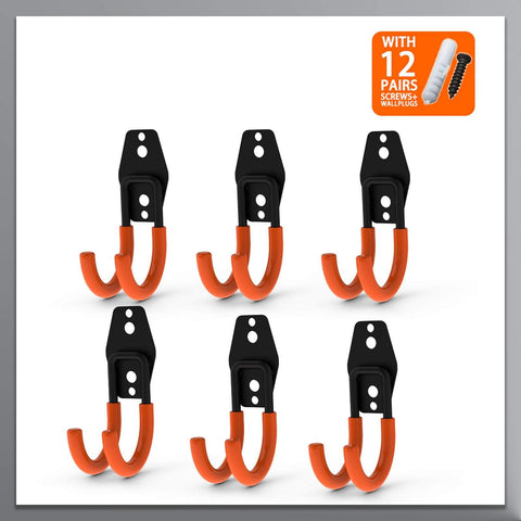 Steel Garage Storage Small J Hooks - coolyeah-garage-organization
