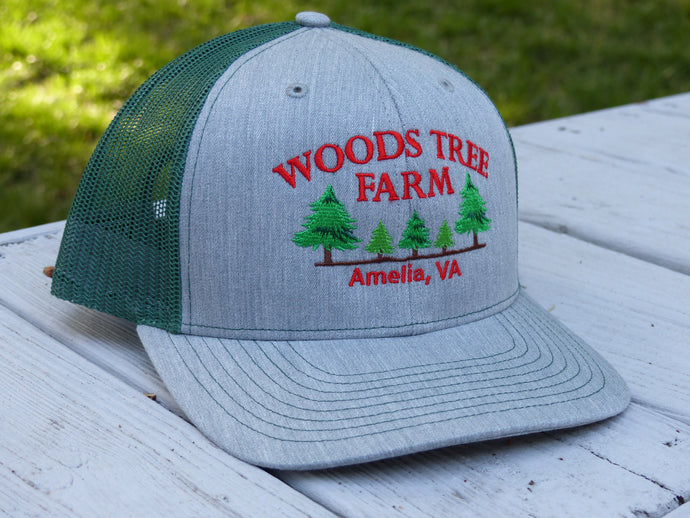 Heather Gray/Green Trucker Hat