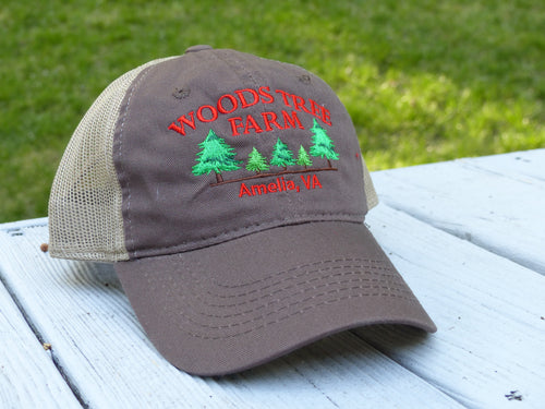 Woods Tree Farm Garment Washed Mesh-Back Hat