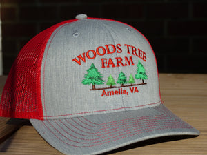 Heather Gray/Red Trucker Hat