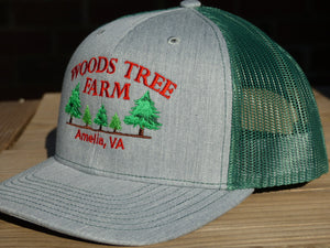 Woods Tree Farm Premium Snapback Trucker Hat