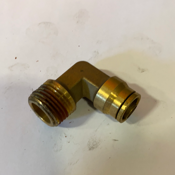 "AF25250 : Brass Air 90 Degree Elbow PC 1/2"" Tube - 1/2"" MP"
