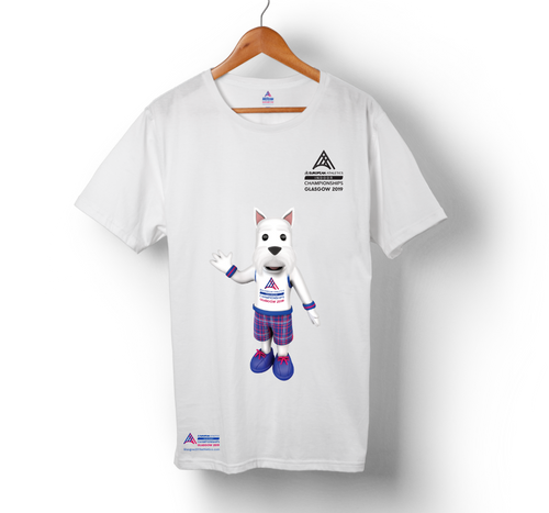 Kids Mascot SCOTTIE Tee EAIC White