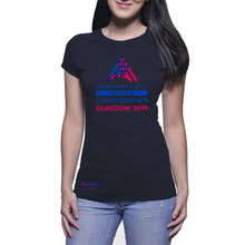 Load image into Gallery viewer, Ladies Logo Tee EAIC Navy