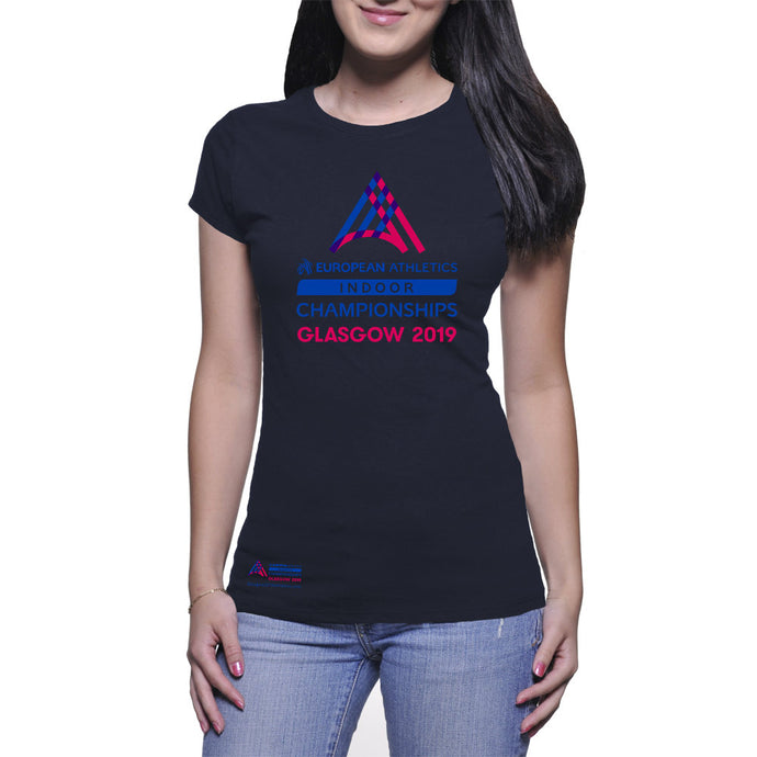 Ladies Logo Tee EAIC Navy