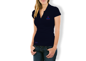 Ladies Pique Polo EAIC Navy