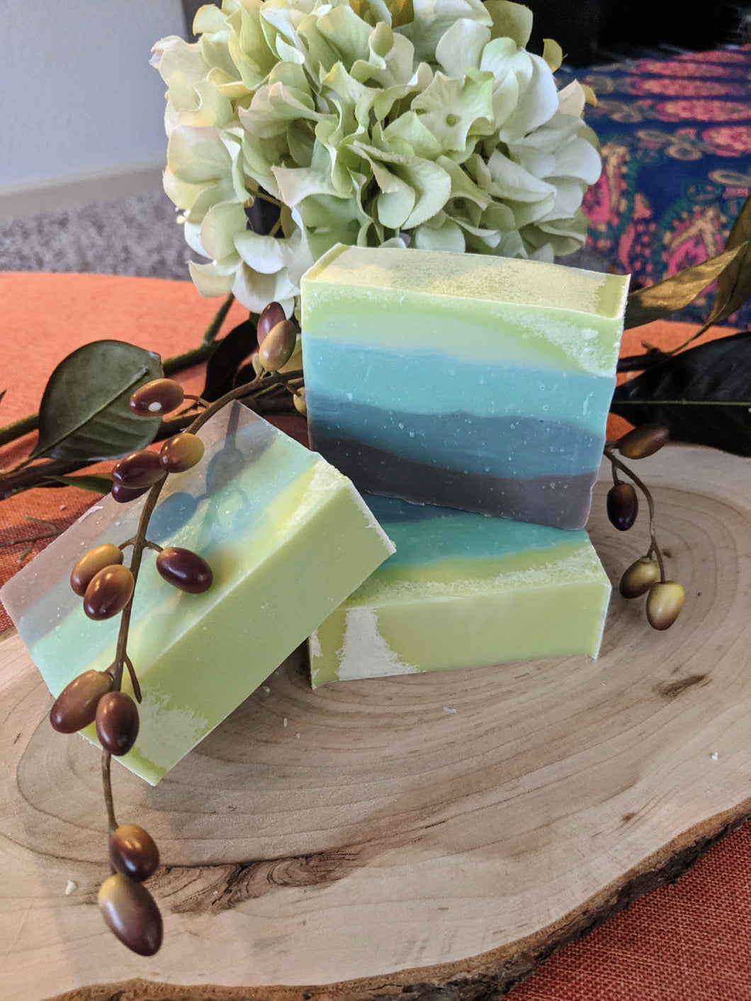 Basil, Mint, & Sage Artisan Soap Bar