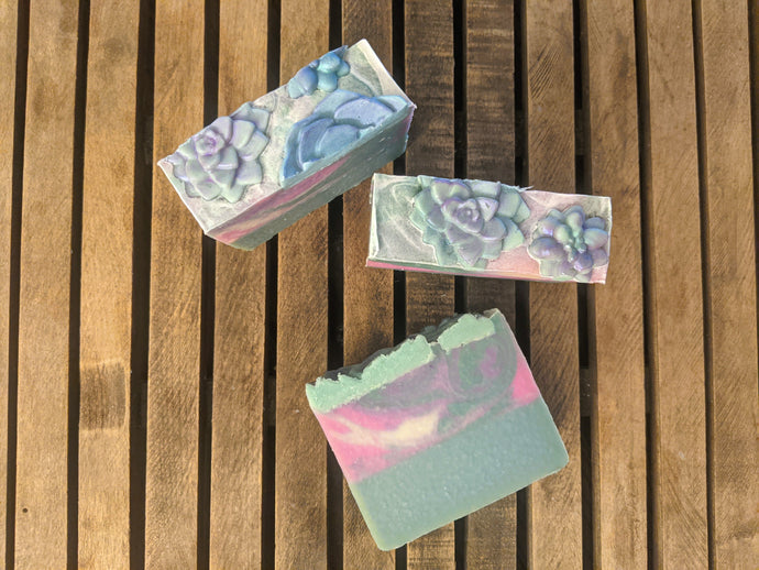 Simply Succulent Artisan Soap Bar