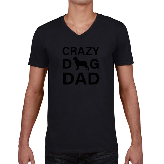 597d138b7 Crazy D G Dad | Mens Father's Day Graphic V-Neck T-Shirt ...