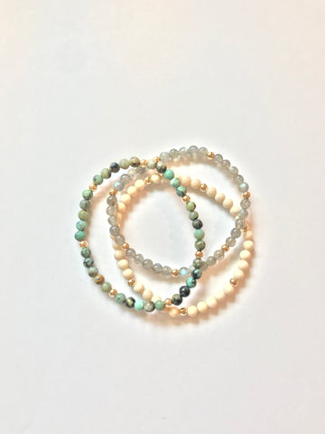 4mm Assorted Beaded Bracelet