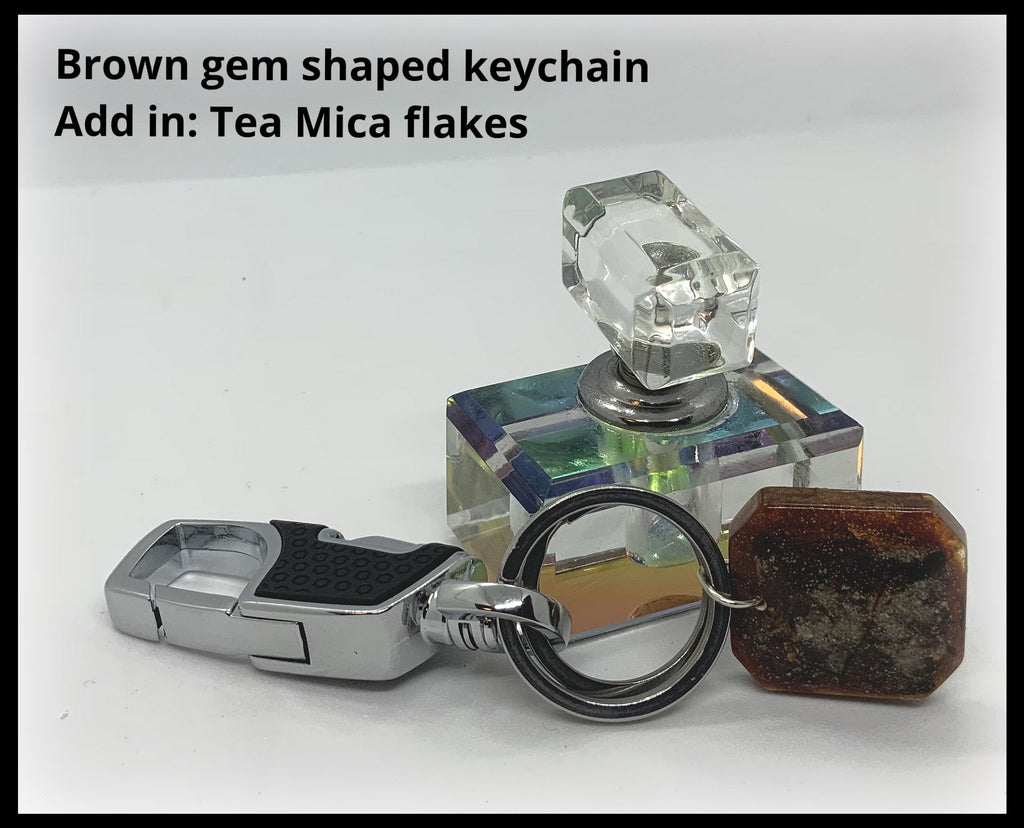 KeyChain with Resin Cremains