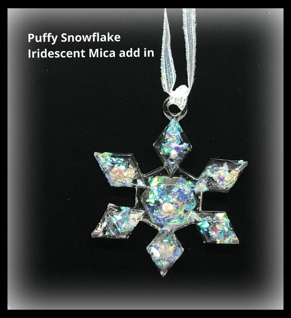 Snowflake Ornaments with Cremains