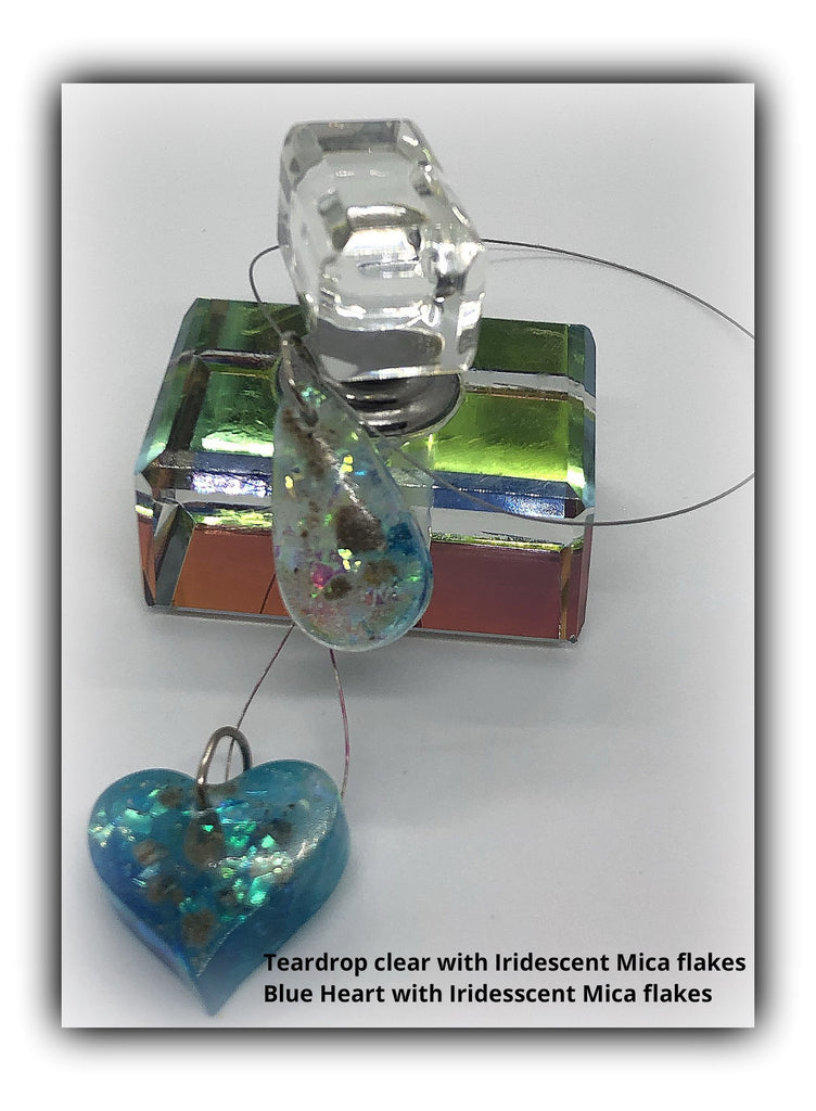 Resin Heart Pendant with Cremains