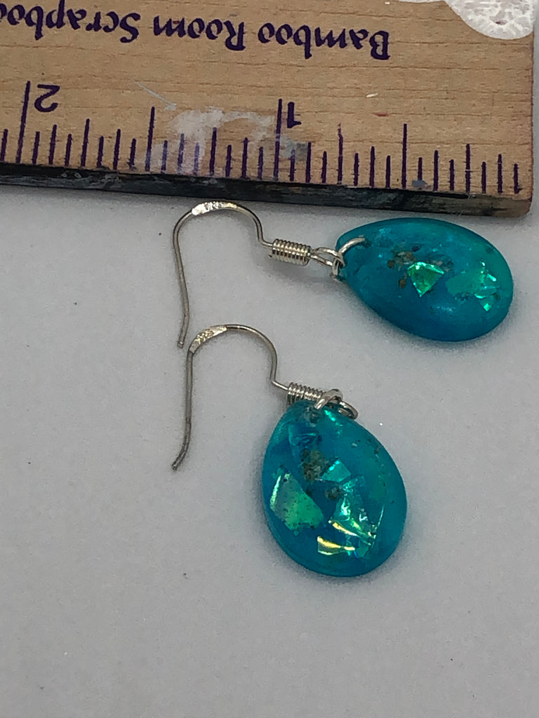 Resin Small Teardrop Earrings with Cremains