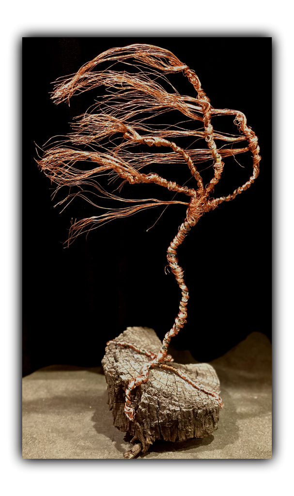 Copper Tree with Planted Cremains