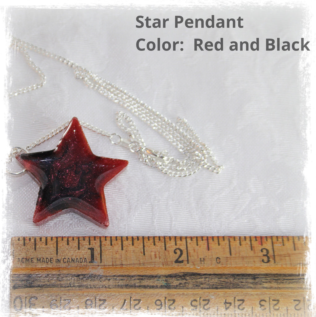 Resin Star Pendant with Cremains - Pendant - spiritsoultreasures - spiritsoultreasures