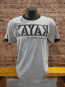 Carried Away Outfitters: Grey Kayak T-Shirt