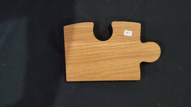 Rivertown Woodgrain: Cutting Board (Puzzle Shaped)