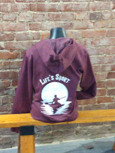 "Carried Away Outfitters:  ""Life's Short"" Full Zipper Hoodie"