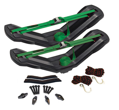MegaWing: Large Fishing Kayak Carrier with Tie-Downs - V Style - Rear Loading