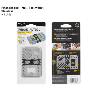 Niteize Financial Tool Multitool Wallet- Black