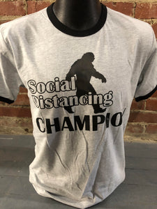 Carried Away Outfitters: Bigfoot Social Distancing Champion T-Shirt
