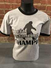 Load image into Gallery viewer, Carried Away Outfitters: Bigfoot Social Distancing Champion T-Shirt