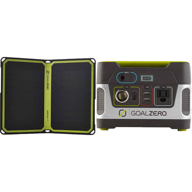 Goal Zero: Yeti 150 110V Solar Kit with Nomad 14+