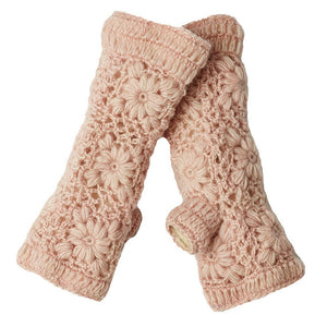 Nirvanna Designs: Flower Crochet Handwarmers