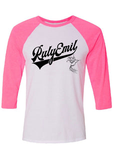 3/4 PINK Sleeves Baseball Tee