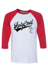 Load image into Gallery viewer, 3/4 RED Sleeves Baseball Tee