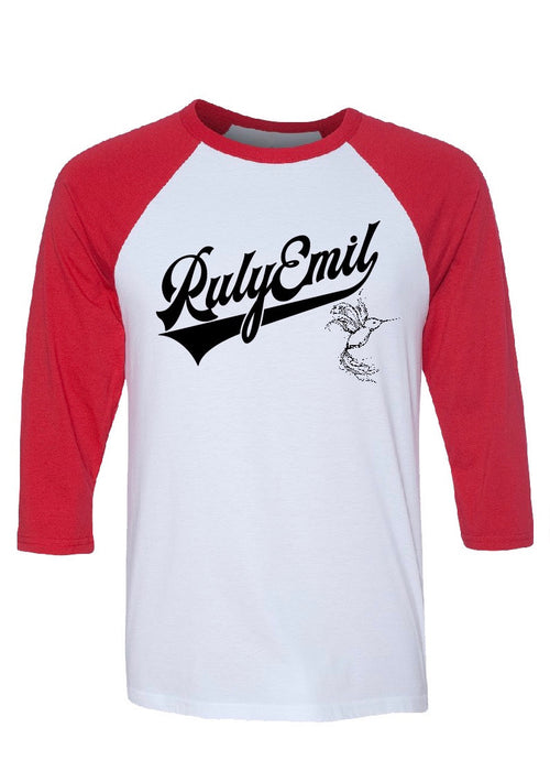3/4 RED Sleeves Baseball Tee