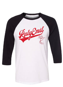 3/4 BLACK Sleeves Baseball Tee