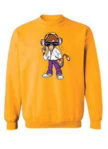 Monkey Punk Unisex Gold Sweatshirt