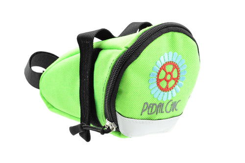 Pedal Chic Cargo Wedge Saddle Bag - Lime Green