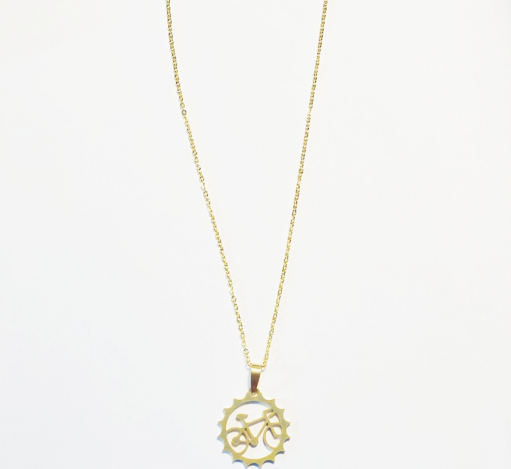 Jewelry Circle Bike Necklace - Pedal Chic