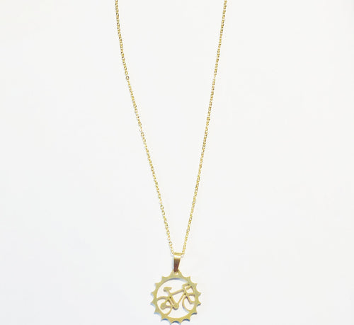 Bicycle Cog Pendant Necklace