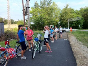 Pedal Chic bike rides on the Swamp Rabbit Trail in Greenville South Carolina