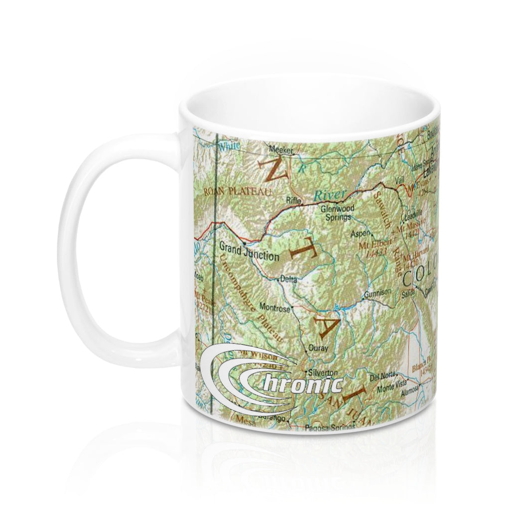 Chronic™ Athletics Colorado Rocky Mountain Map Mugs