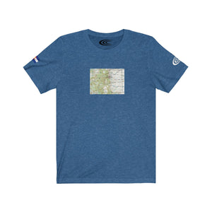 Chronic™ Athletics Colorado Map Unisex Jersey Short Sleeve Tee