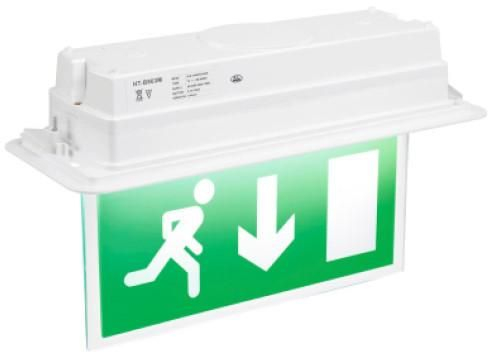fusion recessed emergency exit sign