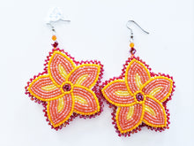 Load image into Gallery viewer, Bright Sun Floral Earrings