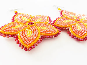 Bright Sun Floral Earrings