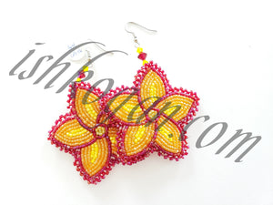 Autumn Colors Floral Earrings
