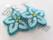 Load image into Gallery viewer, Seagreen Floral Earrings