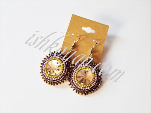 Purple Earth Tones Earrings