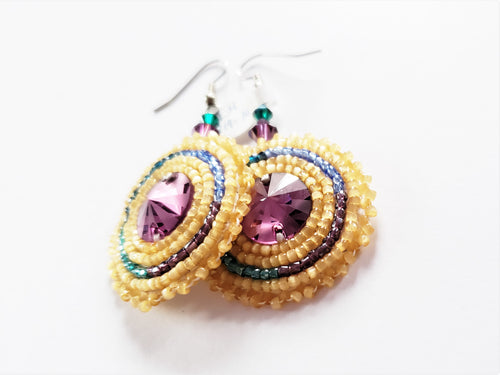 Amethyst & Topaz Earrings